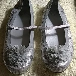 Girls sequin dress shoes size 3.5M